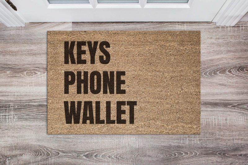 Doormat - Keys, phone, wallet-0