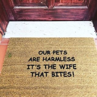Doormat - Our pets are harmless-0