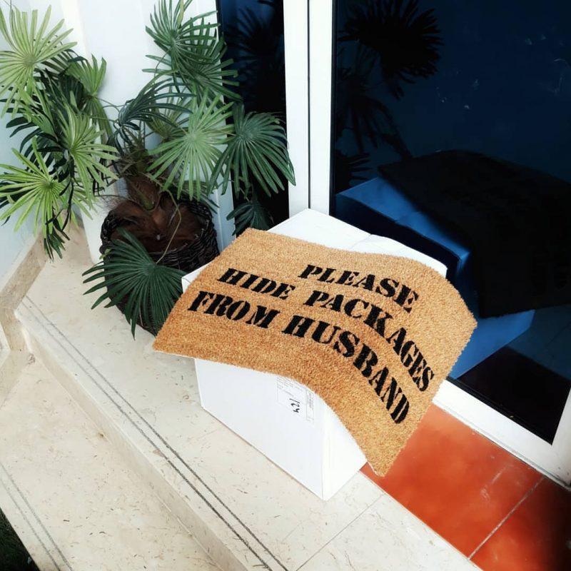 Doormat - Please hide packages -0