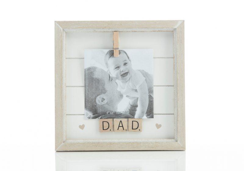 Gift - 'Scrabble Peg Frame 4x4 Dad'-0