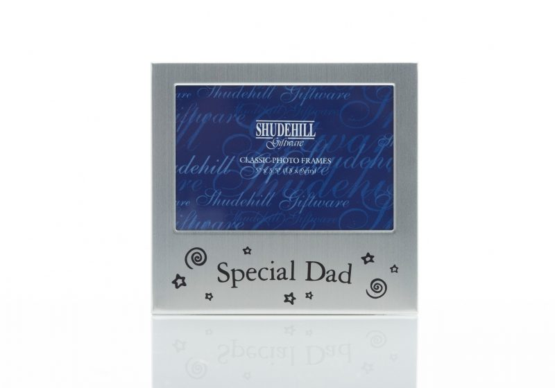 Gift- 'Satin Silver Occasion Frame Special Dad'-0