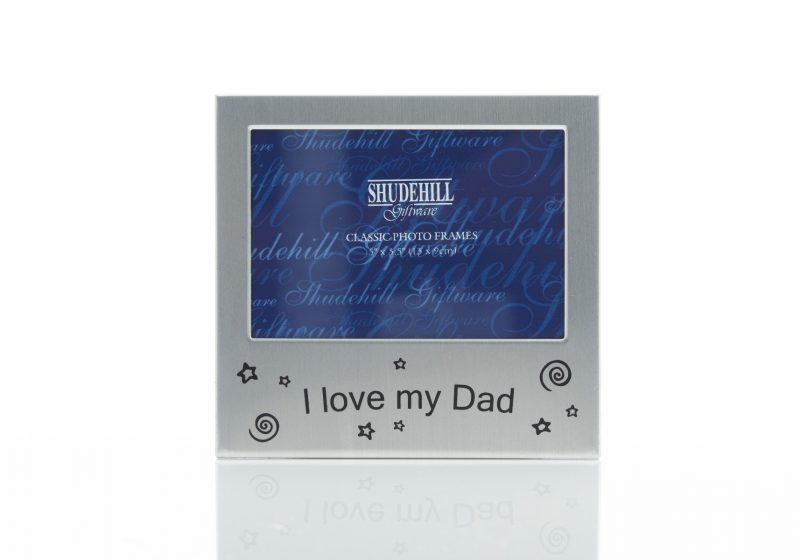 Gift - 'Satin Silver Occasion Frame I Love My Dad'-0