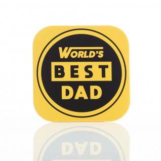 Gift - 'TND World's Best Dad Beer Bottle Opener Coaster'-0