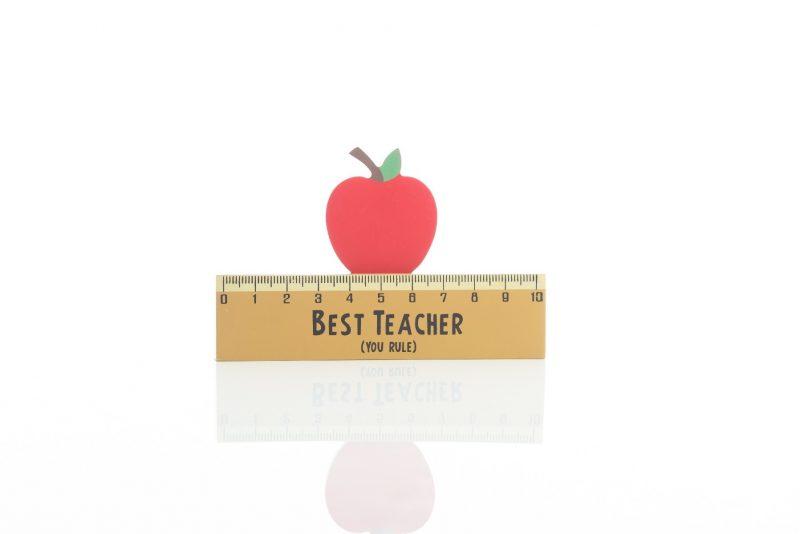 Gift - 'Best Teacher Ruler Block'-0