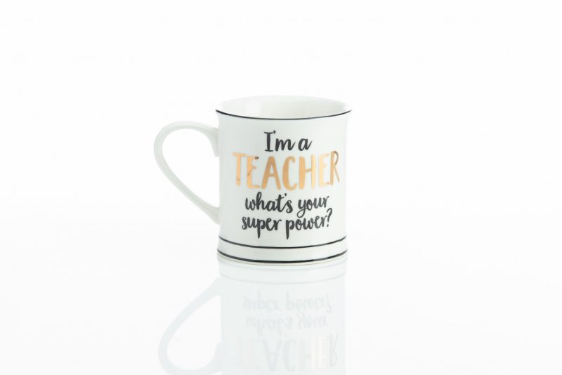 Gift - 'Metallic Monochrome I'm A Teacher Mug'-0