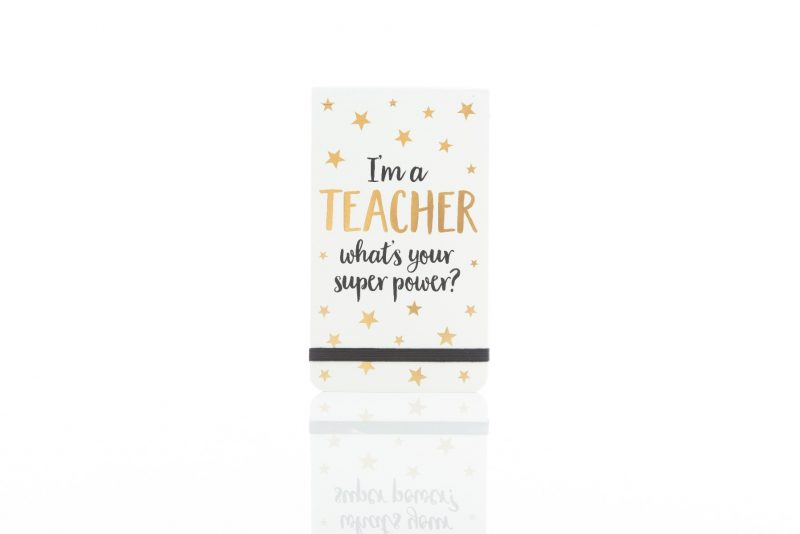 Gift - 'Metallic Monochrome I'M A Teacher Notepad'-0