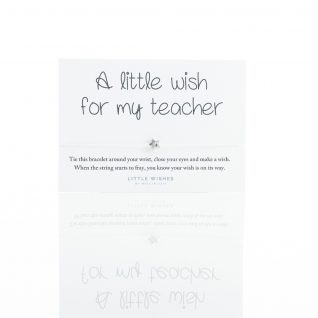 Gift - 'Little Wishes - For My Teacher Bracelet'-0
