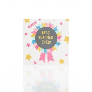 Greeting Card - 'Best Teacher Ever'-0