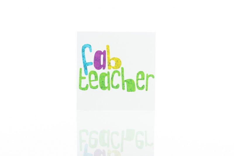 Greeting Card - 'Fab Teacher'-0