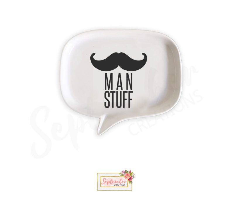 Men's Key/ Change/ Ring/ Cufflinks Holder, Man Stuff Dish- Father's Day Gift for Dad-0