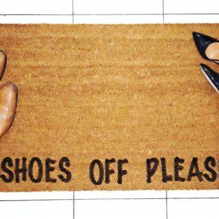 Doormat - Shoes off please -0