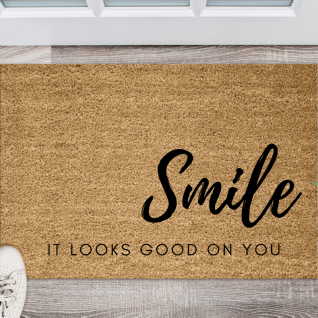 Doormat - Smile it looks good on you-0
