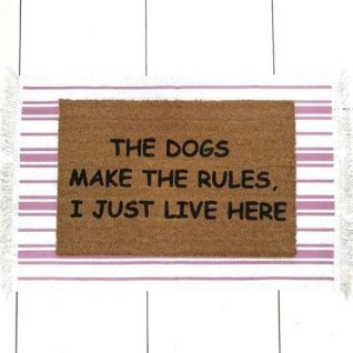 Doormat - The dogs make the rules, I just live here-0