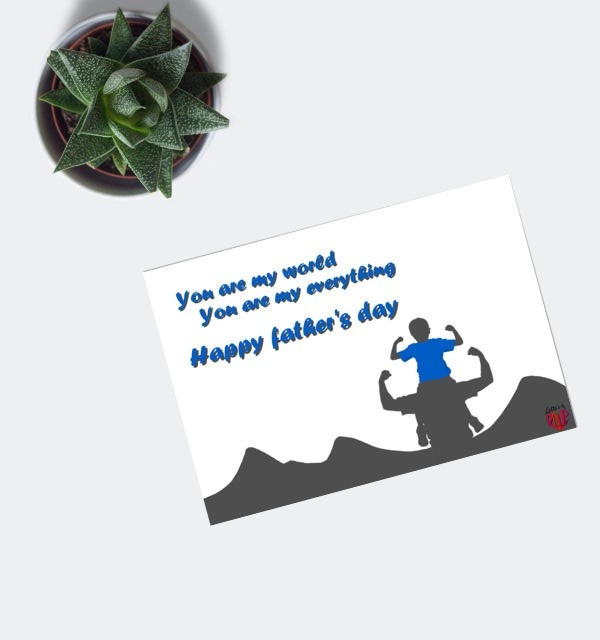 Happy Father's Day Card - Father & Son in Desert-0