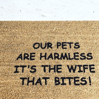 Doormat - Our pets are harmless It's the wife that bites!-0