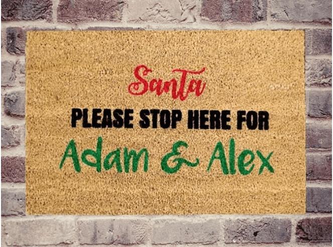 Doormat - Santa Stops Here-0