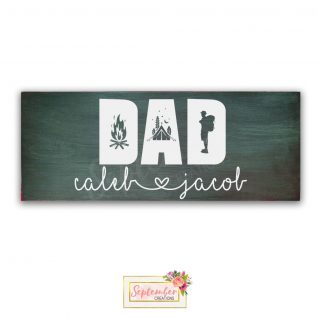 DAD Wood Sign -Personalised- Father's Day Gift-0