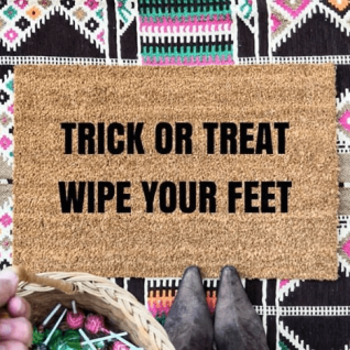 Doormat - Trick or treat wipe your feet-0
