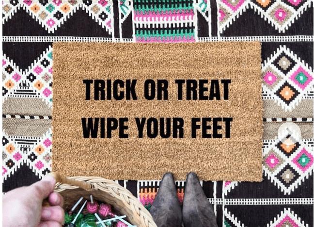 Doormat - Trick or treat wipe your feet-0